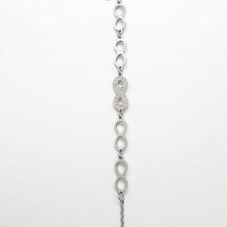 Zapestnica infinity - zapestnica neskončnost - nakit - zapestnica iz jekla