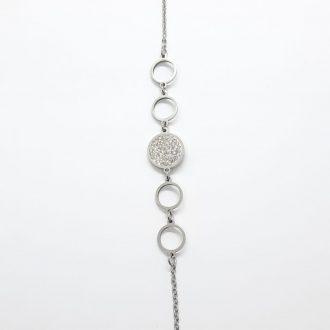 Zapestnica s krogci - jeklena zapestnica - nakit - zapestnica iz jekla