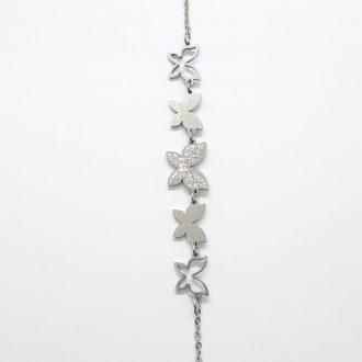 Zapestnica z metulji - ženski nakit - modni nakit - zapestnica iz jekla - nakit