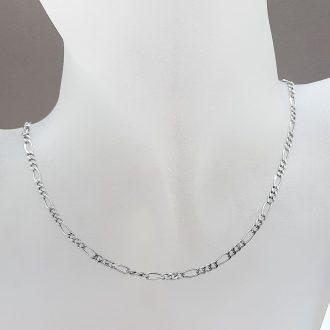Verižica figaro - kombinacija - srebrn nakit - nakit za moške - nakit - srebro