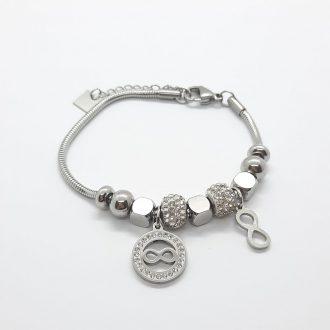 Zapestnica - tree of life - jeklo - modni nakit - kroglica - drevo življenja